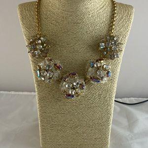 J Crew Cluster Rhinestones statement necklace